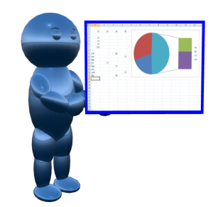 Doughboy holding Excel chart